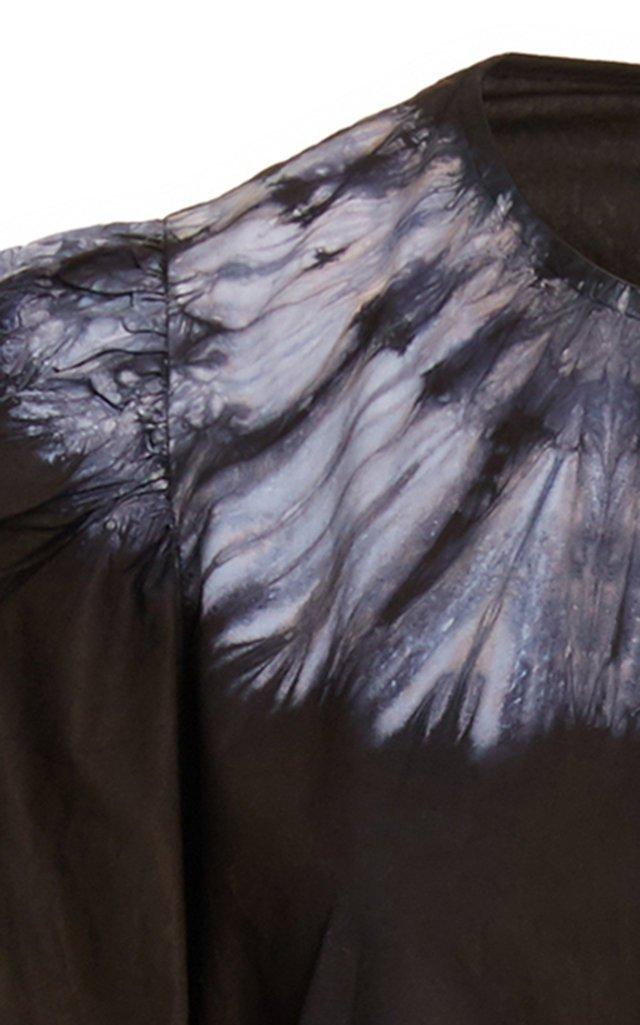 Daria Puff-Sleeve Cotton Maxi Dress
