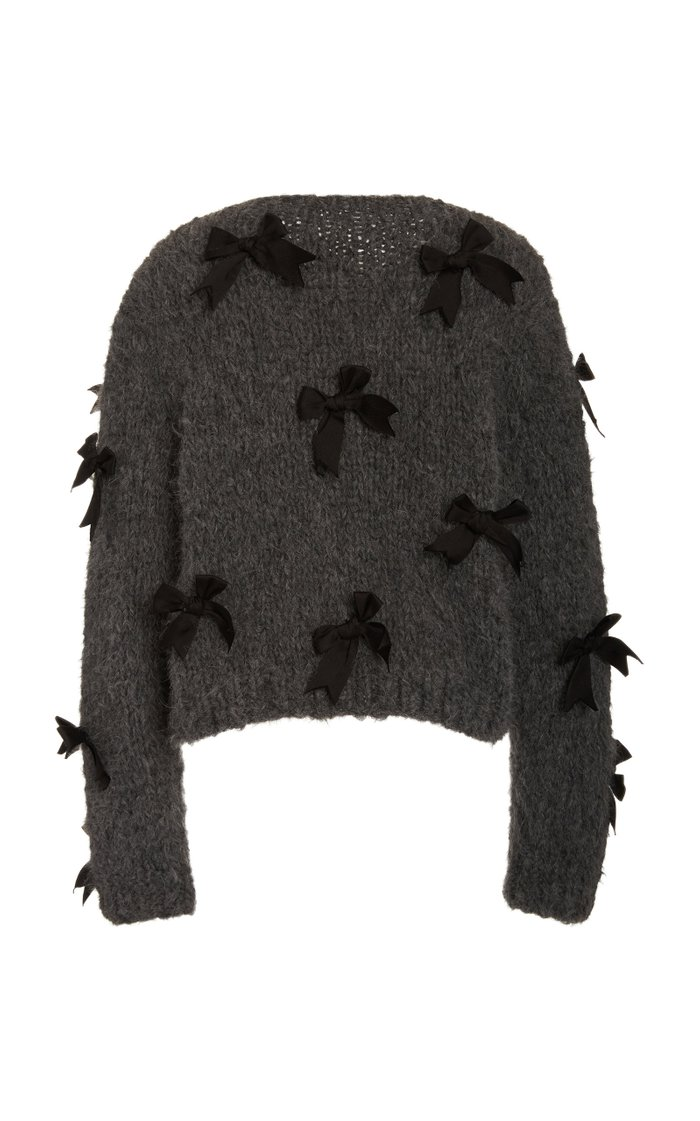 Pippy Bow-Embellished Wool Sweater