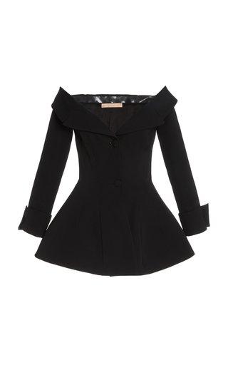 Rohtak Off-The-Shoulder Wool Jacket