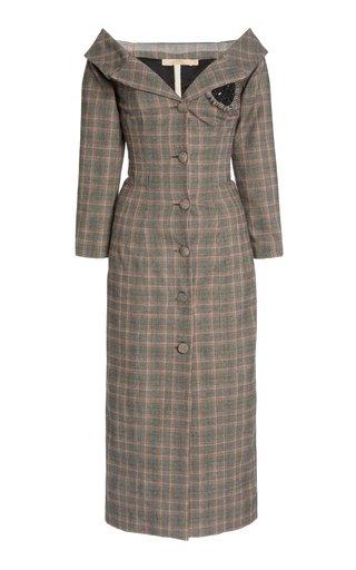 Roxana Plaid Cotton-Blend Dress