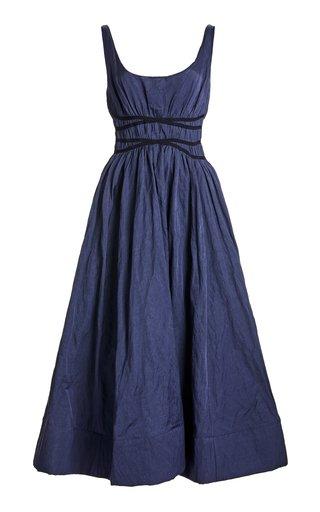Rosemond Twill A-Line Midi Dress