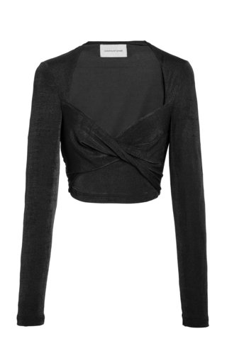 Bambi Lurex Cropped Top