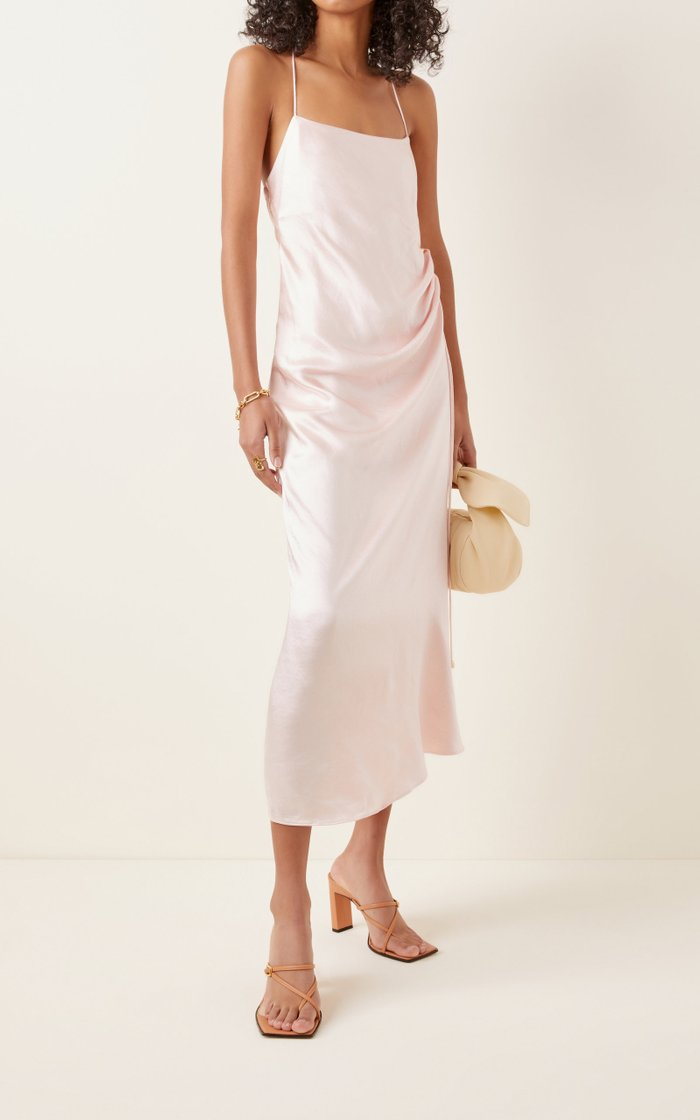 Aura Satin Slip Dress