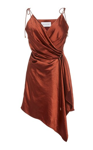 Goldie Draped Satin Slip Dress