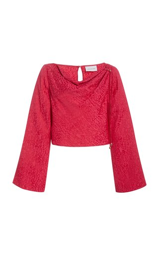 Axel Brocade Cropped Top