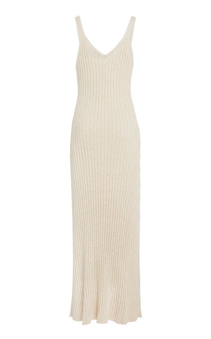 Goldie Ribbed Knit Midi Dress