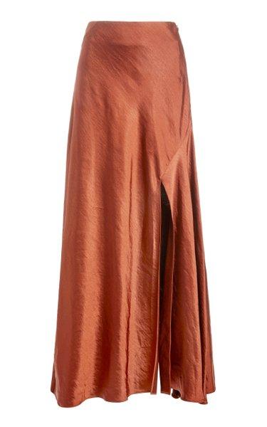 Aura High-Rise Satin Skirt