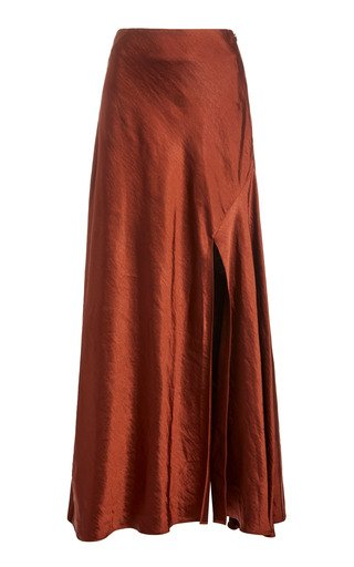 Aura High-Rise Satin Skirt