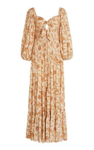 Paradise Floral-Print Crepe Dress
