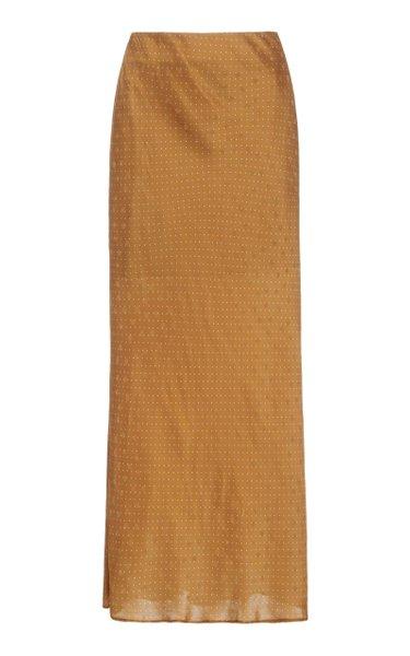 Atillio High-Rise Cloque Skirt