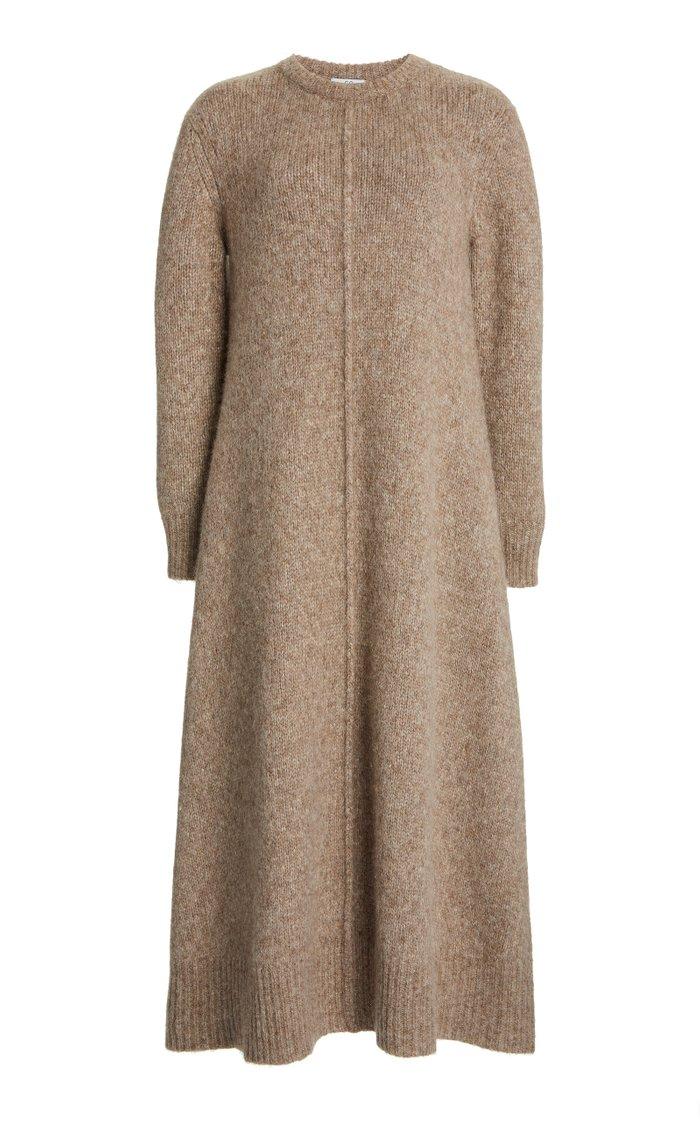 Alpaca-Blend Midi Dress