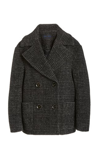 Wool Plaid Double-Breasted Coat