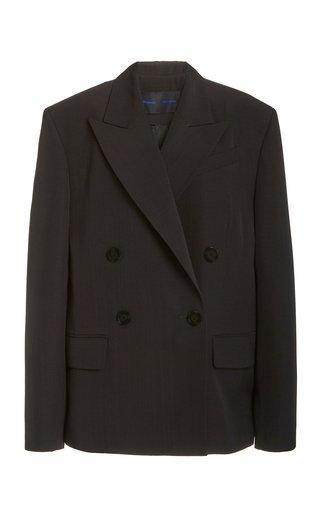 Split Collar Viscose-Silk Jacket