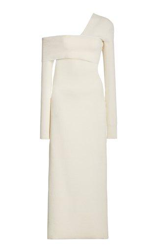 Bandage One-Shoulder Silk-Blend Maxi Dress