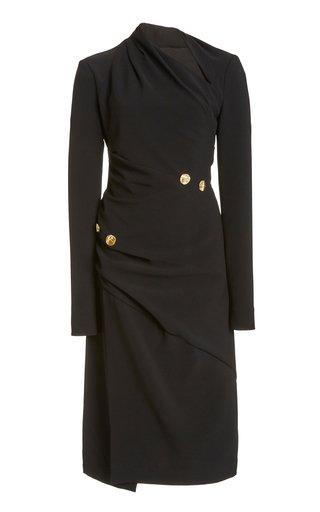 Twisted Matte Viscose-Crepe Dress