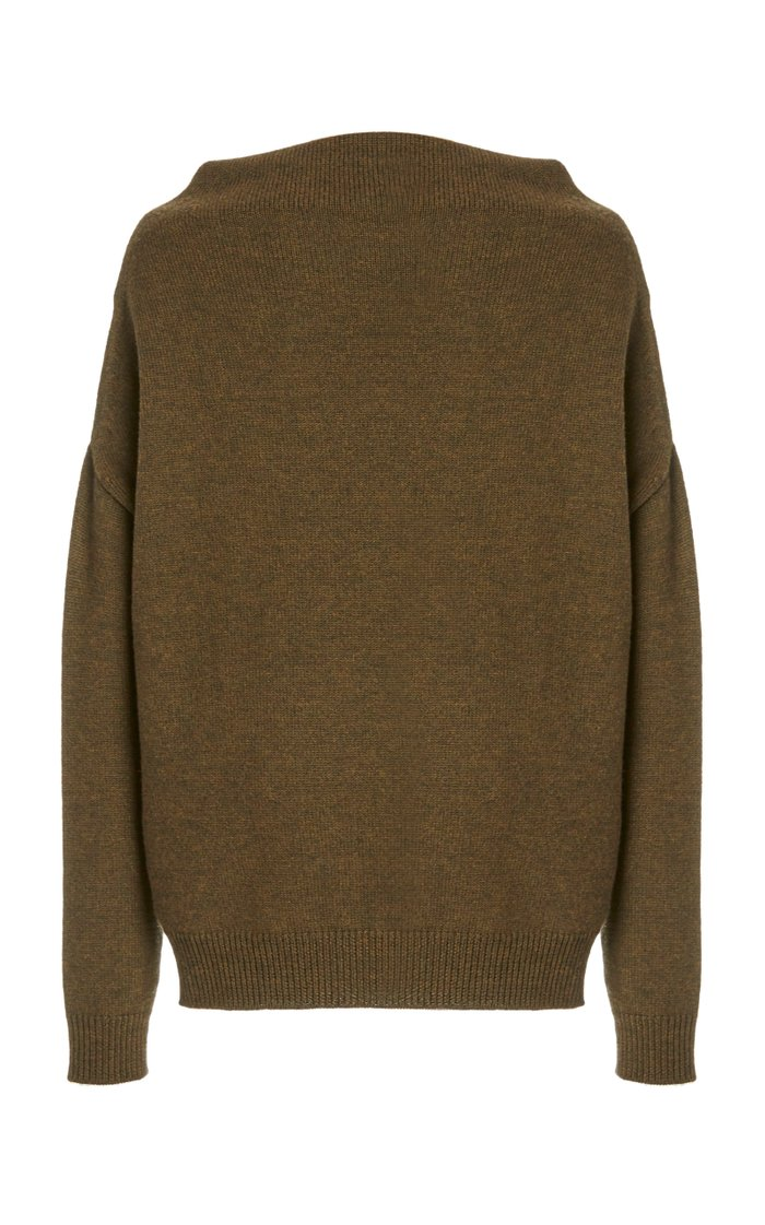 Oversized Off-The-Shoulder Wool Sweater