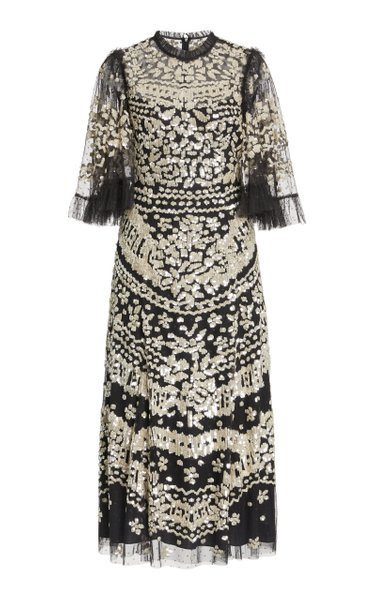 Anaïs Embroidered Tulle Dress
