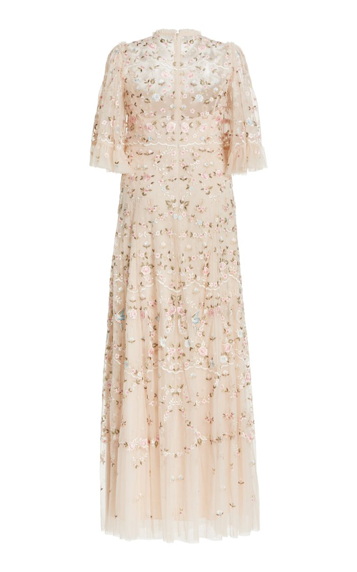Regency Embroidered Tulle Gown