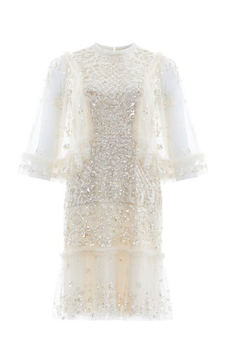 Melody Sequined Tulle Mini Dress