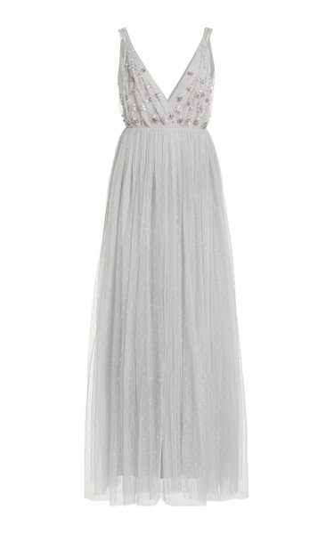 Neve Crystal-Embellished Tulle Gown