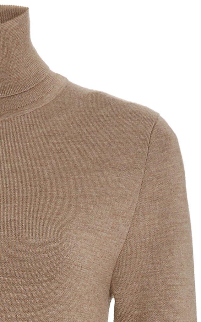 Betti Double-Faced Cashmere-Silk Turtleneck Sweater Dress