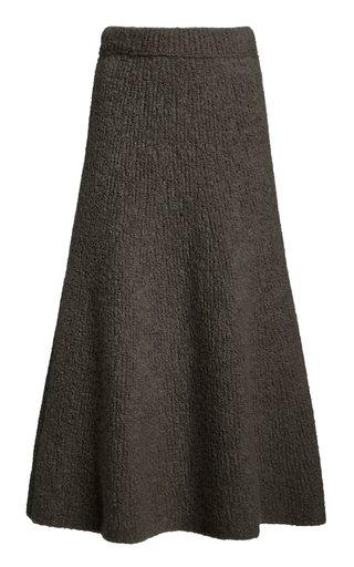 Pablo Cashmere Bouclé Midi Skirt