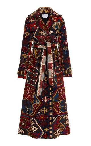 Casatt Jacquard One-of-a-Kind Trench Coat