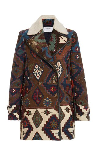 Dylan Cashmere Jacquard One-Of-A-Kind Peacoat