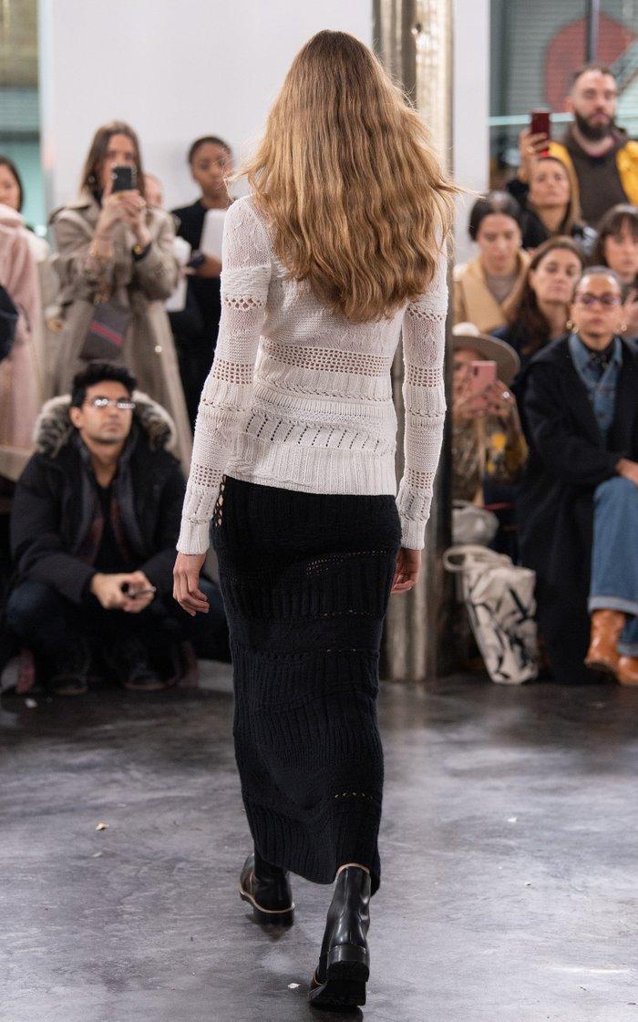 Pamela Mixed-Knit Cashmere Maxi Skirt