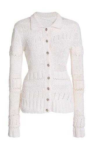 Nitsan Mixed-Knit Cashmere Cardigan