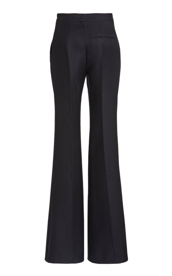 Leda Wool-Silk Flared Trousers