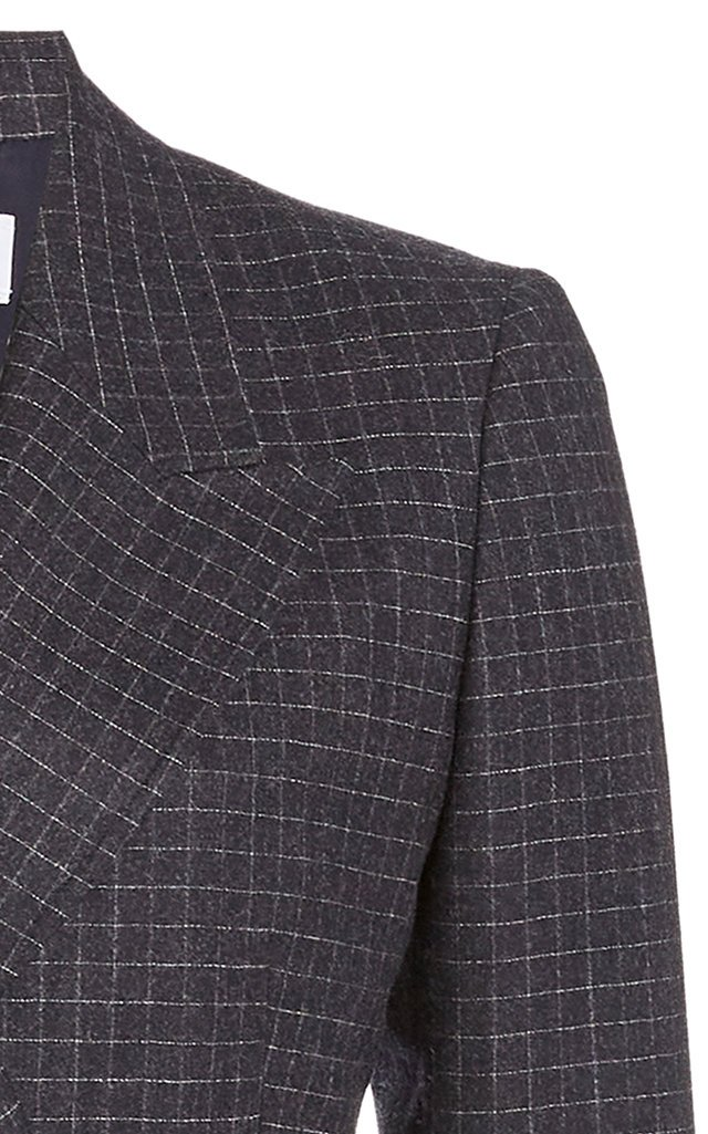 Angela Checked Wool Double-Breasted Blazer