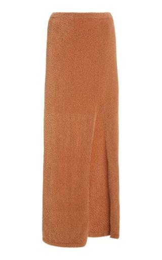Soft Teddy Maxi Skirt