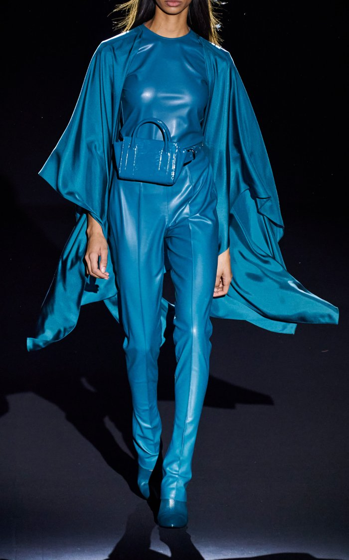Stretch Faux Leather Bodysuit