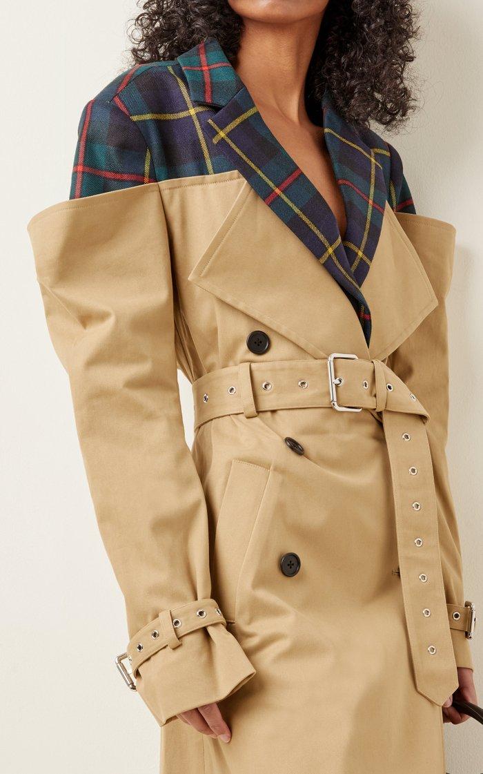 Deconstructed Cotton-Gabardine Trench Coat