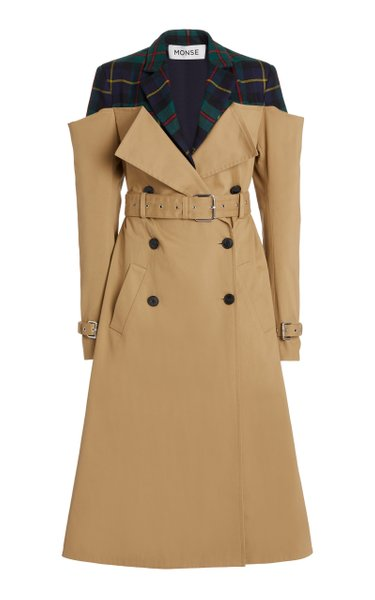 Deconstructed Cotton-Gabardine Trench Coat