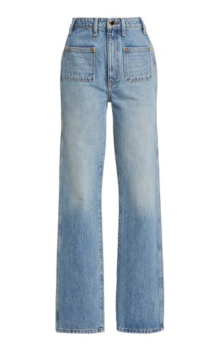 Isabella Rigid High-Rise Straight-Leg Jeans