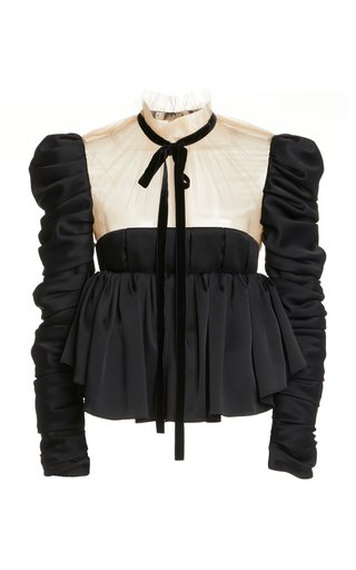 Fanny Ruffled Crepe Top