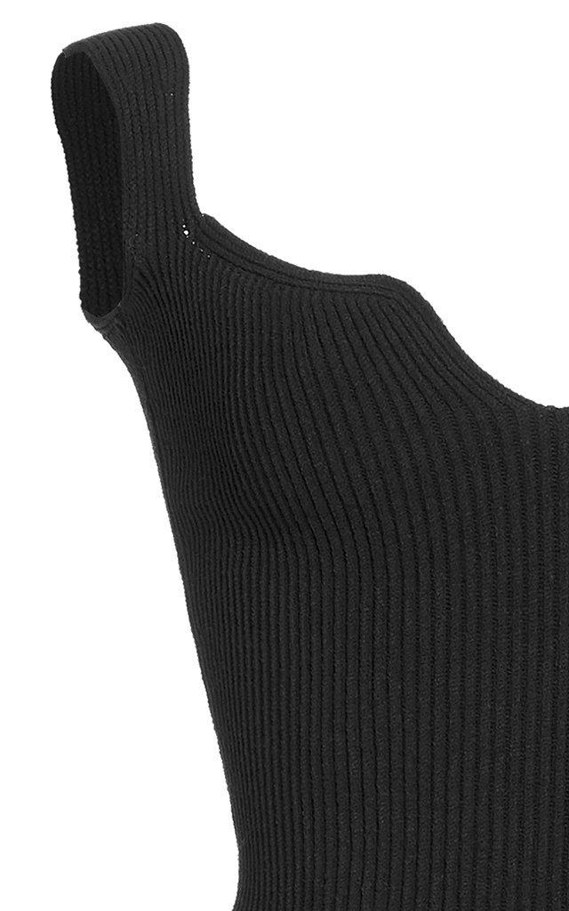 Yves Ribbed-Knit Bodysuit