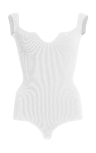 Yves Ribbed-Knit Bodysuit