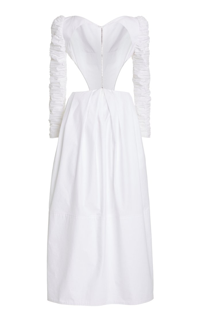 Rosaline Ruched Cotton Dress