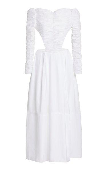 Rosaline Ruched Cotton Dress