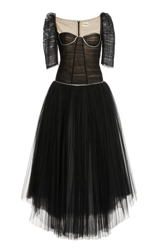 Desi Ruched Tulle Dress