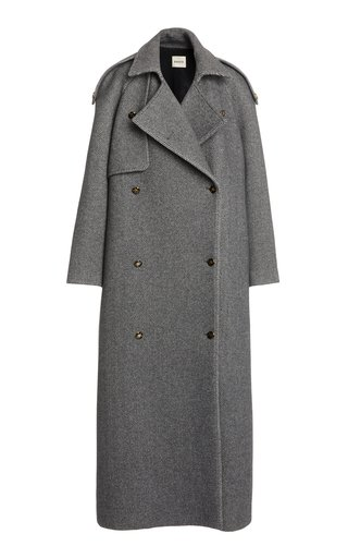 Gwyn Oversized Wool-Blend Trench Coat