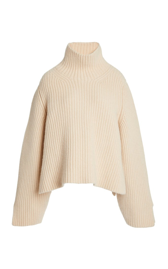 Molly Ribbed-Knit Turtleneck Sweater