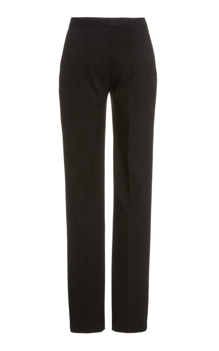 Stretch Wool Skinny Pants