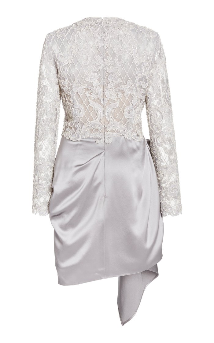 Lace and Satin Mini Dress