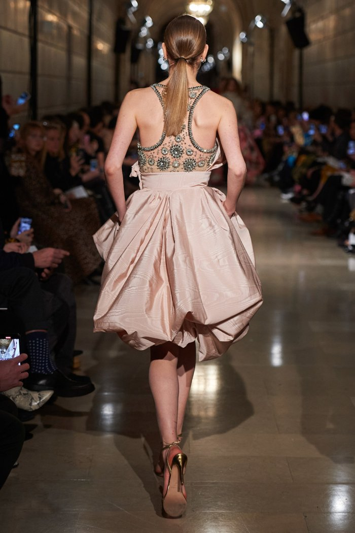 Embellished Cotton-Blend Mini Dress