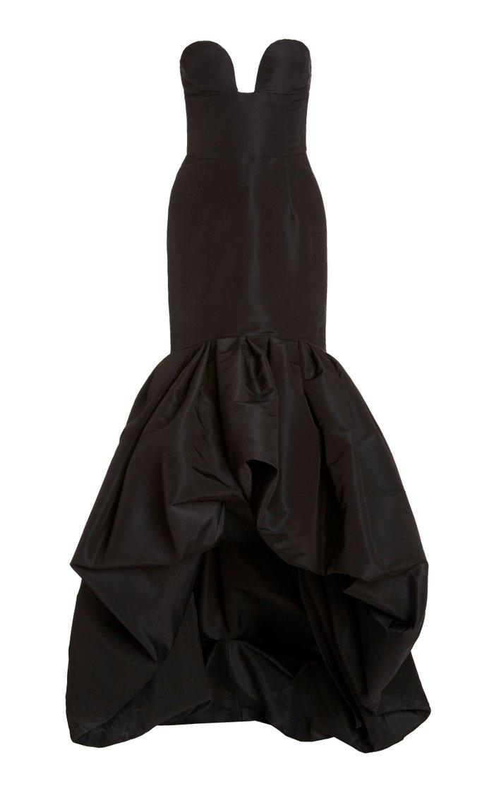 Strapless Silk Mermaid Gown