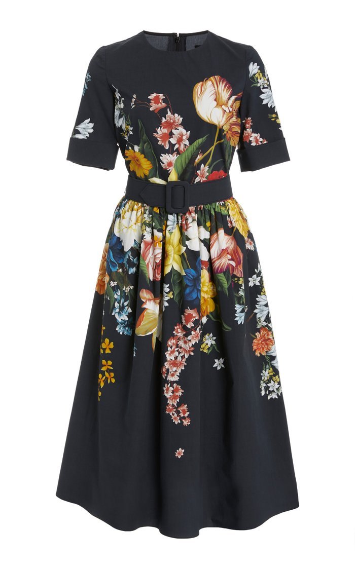 Floral-Print Cotton-Blend Dress